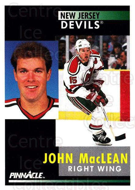 1991-92 Pinnacle #115 John MacLean<br/>8 In Stock - $1.00 each - <a href=https://centericecollectibles.foxycart.com/cart?name=1991-92%20Pinnacle%20%23115%20John%20MacLean...&quantity_max=8&price=$1.00&code=245409 class=foxycart> Buy it now! </a>