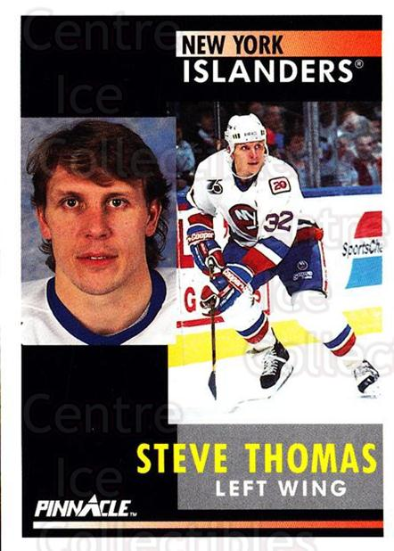 1991-92 Pinnacle #116 Steve Thomas<br/>8 In Stock - $1.00 each - <a href=https://centericecollectibles.foxycart.com/cart?name=1991-92%20Pinnacle%20%23116%20Steve%20Thomas...&quantity_max=8&price=$1.00&code=245410 class=foxycart> Buy it now! </a>