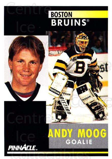 1991-92 Pinnacle #126 Andy Moog<br/>7 In Stock - $1.00 each - <a href=https://centericecollectibles.foxycart.com/cart?name=1991-92%20Pinnacle%20%23126%20Andy%20Moog...&quantity_max=7&price=$1.00&code=245420 class=foxycart> Buy it now! </a>