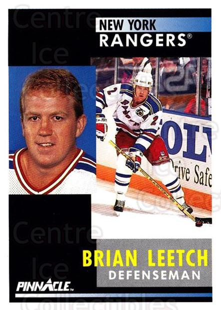 1991-92 Pinnacle #136 Brian Leetch<br/>8 In Stock - $1.00 each - <a href=https://centericecollectibles.foxycart.com/cart?name=1991-92%20Pinnacle%20%23136%20Brian%20Leetch...&quantity_max=8&price=$1.00&code=245430 class=foxycart> Buy it now! </a>