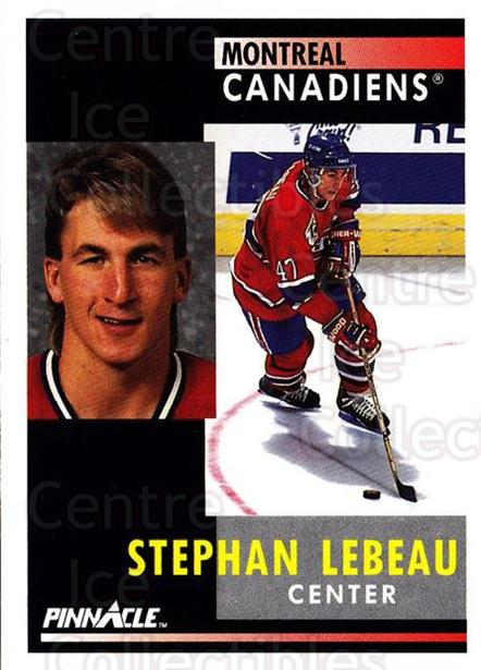 1991-92 Pinnacle #139 Stephan Lebeau<br/>8 In Stock - $1.00 each - <a href=https://centericecollectibles.foxycart.com/cart?name=1991-92%20Pinnacle%20%23139%20Stephan%20Lebeau...&quantity_max=8&price=$1.00&code=245433 class=foxycart> Buy it now! </a>