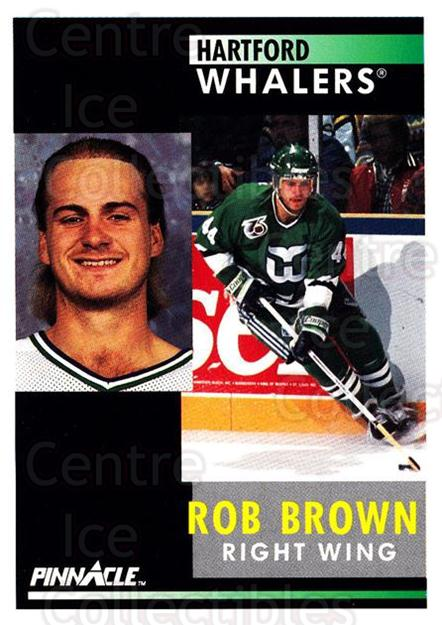 1991-92 Pinnacle #141 Rob Brown<br/>8 In Stock - $1.00 each - <a href=https://centericecollectibles.foxycart.com/cart?name=1991-92%20Pinnacle%20%23141%20Rob%20Brown...&quantity_max=8&price=$1.00&code=245435 class=foxycart> Buy it now! </a>