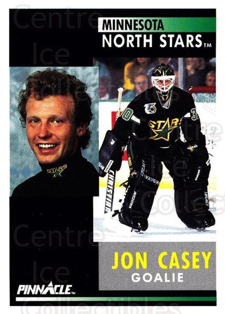 1991-92 Pinnacle #144 Jon Casey<br/>8 In Stock - $1.00 each - <a href=https://centericecollectibles.foxycart.com/cart?name=1991-92%20Pinnacle%20%23144%20Jon%20Casey...&quantity_max=8&price=$1.00&code=245438 class=foxycart> Buy it now! </a>