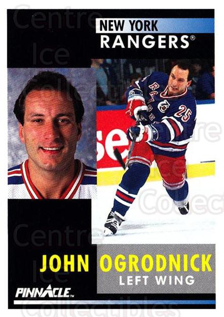 1991-92 Pinnacle #145 John Ogrodnick<br/>7 In Stock - $1.00 each - <a href=https://centericecollectibles.foxycart.com/cart?name=1991-92%20Pinnacle%20%23145%20John%20Ogrodnick...&quantity_max=7&price=$1.00&code=245439 class=foxycart> Buy it now! </a>