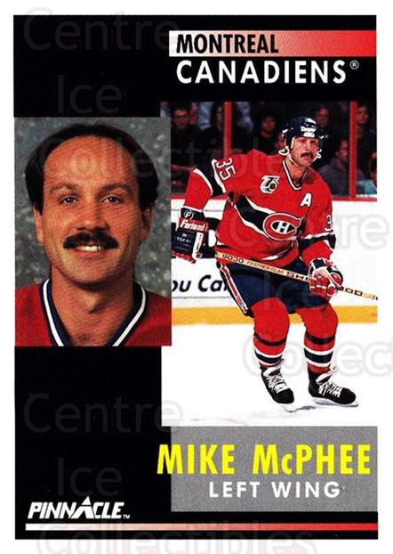 1991-92 Pinnacle #147 Mike McPhee<br/>8 In Stock - $1.00 each - <a href=https://centericecollectibles.foxycart.com/cart?name=1991-92%20Pinnacle%20%23147%20Mike%20McPhee...&quantity_max=8&price=$1.00&code=245441 class=foxycart> Buy it now! </a>