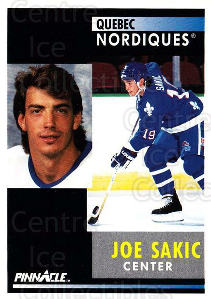 1991-92 Pinnacle #150 Joe Sakic<br/>8 In Stock - $1.00 each - <a href=https://centericecollectibles.foxycart.com/cart?name=1991-92%20Pinnacle%20%23150%20Joe%20Sakic...&price=$1.00&code=245444 class=foxycart> Buy it now! </a>