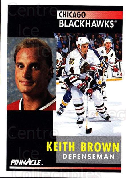 1991-92 Pinnacle #154 Keith Brown<br/>8 In Stock - $1.00 each - <a href=https://centericecollectibles.foxycart.com/cart?name=1991-92%20Pinnacle%20%23154%20Keith%20Brown...&quantity_max=8&price=$1.00&code=245448 class=foxycart> Buy it now! </a>