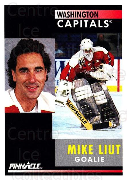1991-92 Pinnacle #169 Mike Liut<br/>7 In Stock - $1.00 each - <a href=https://centericecollectibles.foxycart.com/cart?name=1991-92%20Pinnacle%20%23169%20Mike%20Liut...&quantity_max=7&price=$1.00&code=245463 class=foxycart> Buy it now! </a>