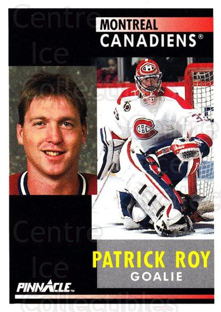 1991-92 Pinnacle #175 Patrick Roy<br/>20 In Stock - $2.00 each - <a href=https://centericecollectibles.foxycart.com/cart?name=1991-92%20Pinnacle%20%23175%20Patrick%20Roy...&quantity_max=20&price=$2.00&code=245469 class=foxycart> Buy it now! </a>