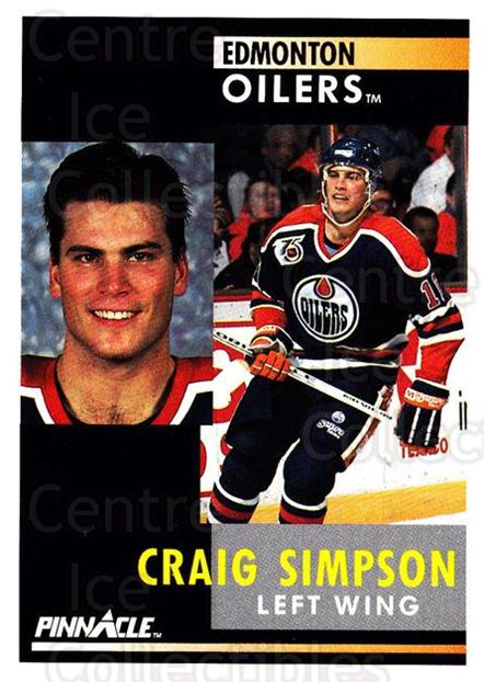 1991-92 Pinnacle #196 Craig Simpson<br/>8 In Stock - $1.00 each - <a href=https://centericecollectibles.foxycart.com/cart?name=1991-92%20Pinnacle%20%23196%20Craig%20Simpson...&quantity_max=8&price=$1.00&code=245490 class=foxycart> Buy it now! </a>