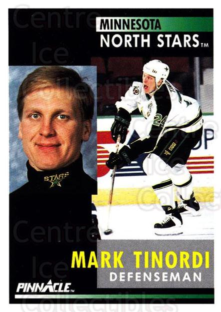 1991-92 Pinnacle #199 Mark Tinordi<br/>8 In Stock - $1.00 each - <a href=https://centericecollectibles.foxycart.com/cart?name=1991-92%20Pinnacle%20%23199%20Mark%20Tinordi...&quantity_max=8&price=$1.00&code=245493 class=foxycart> Buy it now! </a>
