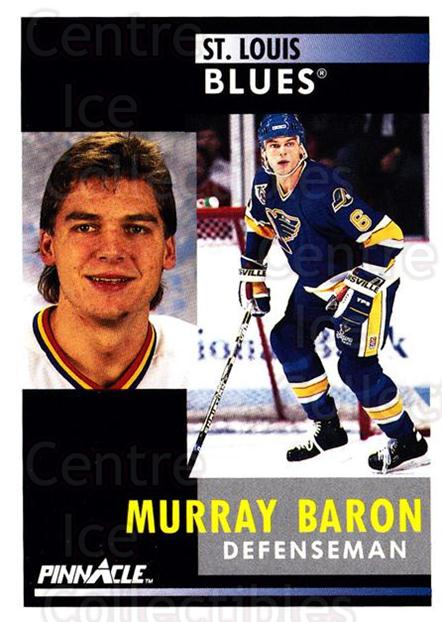 1991-92 Pinnacle #204 Murray Baron<br/>8 In Stock - $1.00 each - <a href=https://centericecollectibles.foxycart.com/cart?name=1991-92%20Pinnacle%20%23204%20Murray%20Baron...&quantity_max=8&price=$1.00&code=245498 class=foxycart> Buy it now! </a>