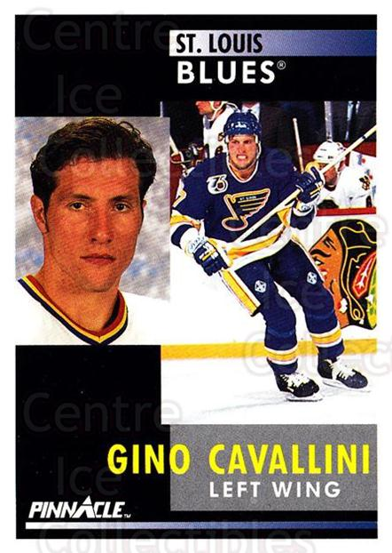 1991-92 Pinnacle #216 Gino Cavallini<br/>2 In Stock - $1.00 each - <a href=https://centericecollectibles.foxycart.com/cart?name=1991-92%20Pinnacle%20%23216%20Gino%20Cavallini...&quantity_max=2&price=$1.00&code=245510 class=foxycart> Buy it now! </a>