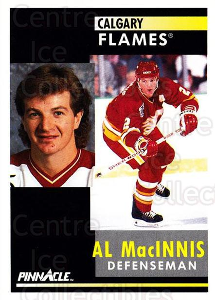 1991-92 Pinnacle #220 Al MacInnis<br/>8 In Stock - $1.00 each - <a href=https://centericecollectibles.foxycart.com/cart?name=1991-92%20Pinnacle%20%23220%20Al%20MacInnis...&quantity_max=8&price=$1.00&code=245514 class=foxycart> Buy it now! </a>