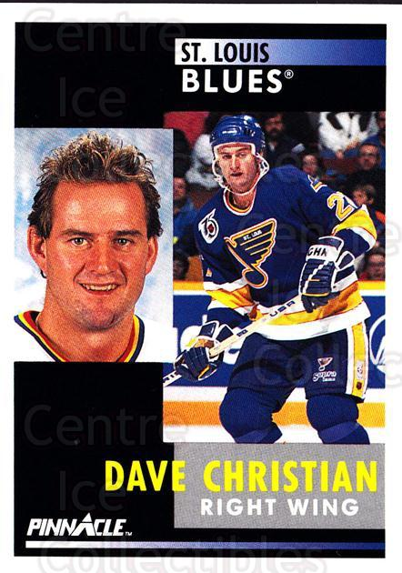 1991-92 Pinnacle #244 Dave Christian<br/>8 In Stock - $1.00 each - <a href=https://centericecollectibles.foxycart.com/cart?name=1991-92%20Pinnacle%20%23244%20Dave%20Christian...&quantity_max=8&price=$1.00&code=245538 class=foxycart> Buy it now! </a>