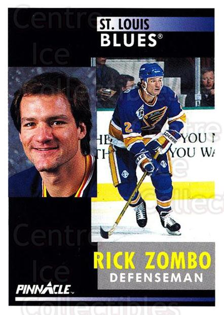 1991-92 Pinnacle #259 Rick Zombo<br/>8 In Stock - $1.00 each - <a href=https://centericecollectibles.foxycart.com/cart?name=1991-92%20Pinnacle%20%23259%20Rick%20Zombo...&quantity_max=8&price=$1.00&code=245553 class=foxycart> Buy it now! </a>