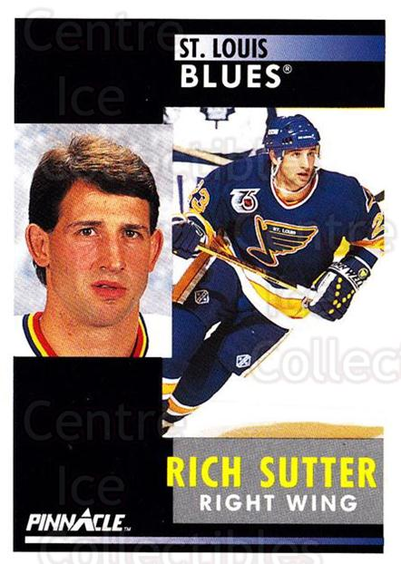 1991-92 Pinnacle #268 Rich Sutter<br/>8 In Stock - $1.00 each - <a href=https://centericecollectibles.foxycart.com/cart?name=1991-92%20Pinnacle%20%23268%20Rich%20Sutter...&quantity_max=8&price=$1.00&code=245562 class=foxycart> Buy it now! </a>