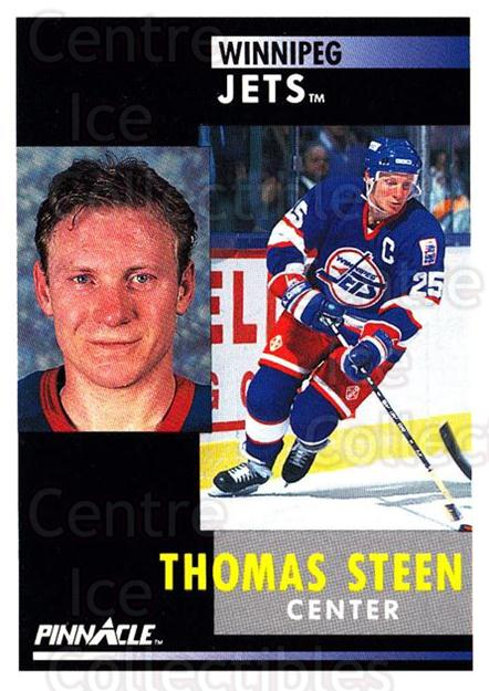 1991-92 Pinnacle #275 Thomas Steen<br/>8 In Stock - $1.00 each - <a href=https://centericecollectibles.foxycart.com/cart?name=1991-92%20Pinnacle%20%23275%20Thomas%20Steen...&quantity_max=8&price=$1.00&code=245569 class=foxycart> Buy it now! </a>