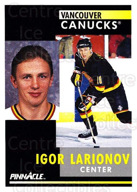 1991-92 Pinnacle #293 Igor Larionov<br/>5 In Stock - $1.00 each - <a href=https://centericecollectibles.foxycart.com/cart?name=1991-92%20Pinnacle%20%23293%20Igor%20Larionov...&quantity_max=5&price=$1.00&code=245587 class=foxycart> Buy it now! </a>