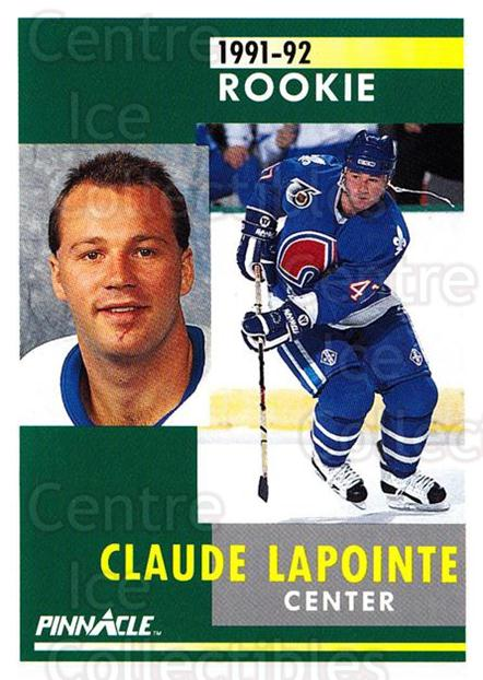 1991-92 Pinnacle #313 Claude Lapointe<br/>8 In Stock - $1.00 each - <a href=https://centericecollectibles.foxycart.com/cart?name=1991-92%20Pinnacle%20%23313%20Claude%20Lapointe...&quantity_max=8&price=$1.00&code=245607 class=foxycart> Buy it now! </a>
