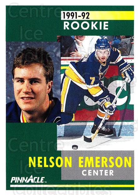 1991-92 Pinnacle #314 Nelson Emerson<br/>7 In Stock - $1.00 each - <a href=https://centericecollectibles.foxycart.com/cart?name=1991-92%20Pinnacle%20%23314%20Nelson%20Emerson...&quantity_max=7&price=$1.00&code=245608 class=foxycart> Buy it now! </a>