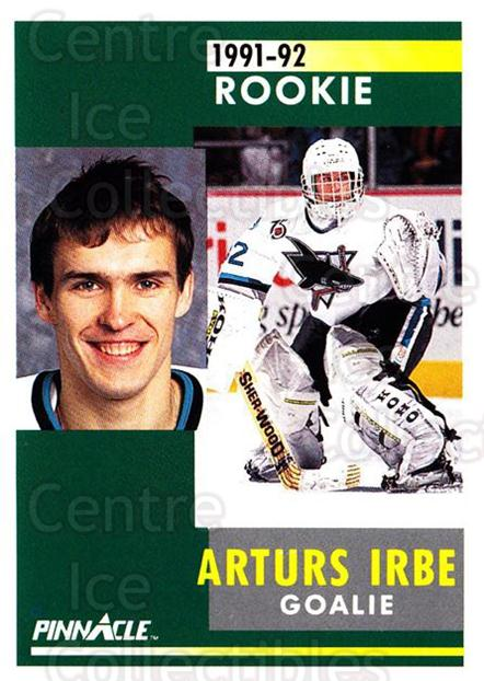 1991-92 Pinnacle #323 Arturs Irbe<br/>5 In Stock - $1.00 each - <a href=https://centericecollectibles.foxycart.com/cart?name=1991-92%20Pinnacle%20%23323%20Arturs%20Irbe...&quantity_max=5&price=$1.00&code=245617 class=foxycart> Buy it now! </a>