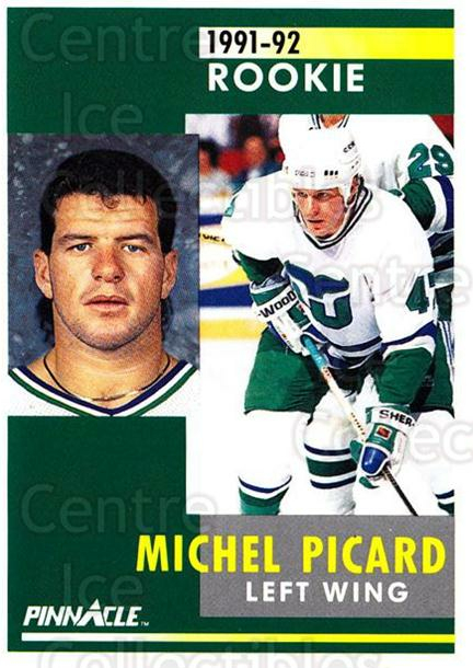 1991-92 Pinnacle #327 Michel Picard<br/>6 In Stock - $1.00 each - <a href=https://centericecollectibles.foxycart.com/cart?name=1991-92%20Pinnacle%20%23327%20Michel%20Picard...&quantity_max=6&price=$1.00&code=245621 class=foxycart> Buy it now! </a>