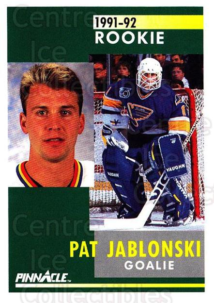 1991-92 Pinnacle #331 Pat Jablonski<br/>8 In Stock - $1.00 each - <a href=https://centericecollectibles.foxycart.com/cart?name=1991-92%20Pinnacle%20%23331%20Pat%20Jablonski...&quantity_max=8&price=$1.00&code=245625 class=foxycart> Buy it now! </a>