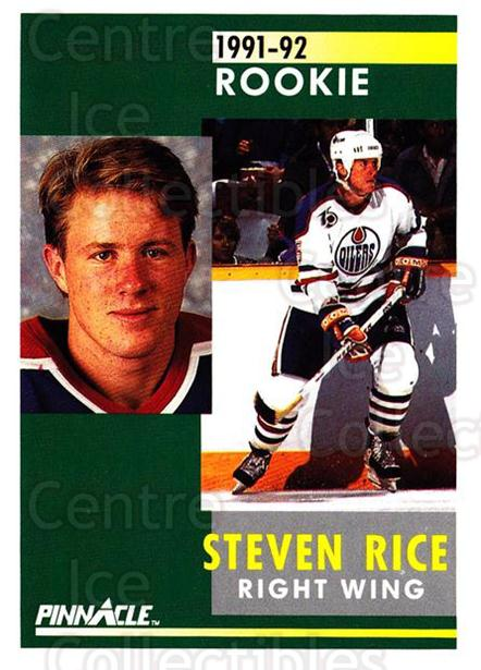 1991-92 Pinnacle #334 Steven Rice<br/>8 In Stock - $1.00 each - <a href=https://centericecollectibles.foxycart.com/cart?name=1991-92%20Pinnacle%20%23334%20Steven%20Rice...&quantity_max=8&price=$1.00&code=245628 class=foxycart> Buy it now! </a>