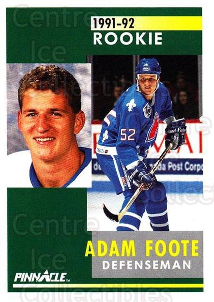 1991-92 Pinnacle #337 Adam Foote<br/>8 In Stock - $1.00 each - <a href=https://centericecollectibles.foxycart.com/cart?name=1991-92%20Pinnacle%20%23337%20Adam%20Foote...&quantity_max=8&price=$1.00&code=245631 class=foxycart> Buy it now! </a>