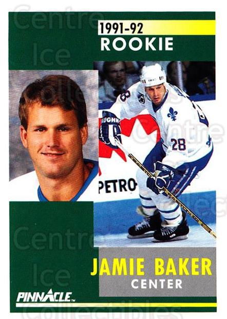 1991-92 Pinnacle #348 Jamie Baker<br/>8 In Stock - $1.00 each - <a href=https://centericecollectibles.foxycart.com/cart?name=1991-92%20Pinnacle%20%23348%20Jamie%20Baker...&quantity_max=8&price=$1.00&code=245642 class=foxycart> Buy it now! </a>