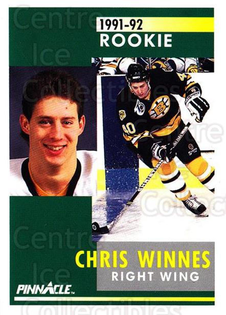 1991-92 Pinnacle #351 Chris Winnes<br/>8 In Stock - $1.00 each - <a href=https://centericecollectibles.foxycart.com/cart?name=1991-92%20Pinnacle%20%23351%20Chris%20Winnes...&quantity_max=8&price=$1.00&code=245645 class=foxycart> Buy it now! </a>