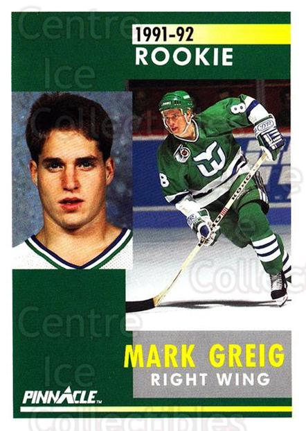 1991-92 Pinnacle #352 Mark Greig<br/>7 In Stock - $1.00 each - <a href=https://centericecollectibles.foxycart.com/cart?name=1991-92%20Pinnacle%20%23352%20Mark%20Greig...&quantity_max=7&price=$1.00&code=245646 class=foxycart> Buy it now! </a>