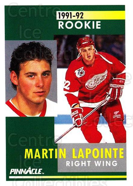 1991-92 Pinnacle #355 Martin Lapointe<br/>7 In Stock - $1.00 each - <a href=https://centericecollectibles.foxycart.com/cart?name=1991-92%20Pinnacle%20%23355%20Martin%20Lapointe...&quantity_max=7&price=$1.00&code=245649 class=foxycart> Buy it now! </a>