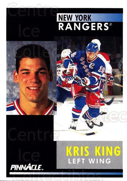 1991-92 Pinnacle #362 Kris King<br/>8 In Stock - $1.00 each - <a href=https://centericecollectibles.foxycart.com/cart?name=1991-92%20Pinnacle%20%23362%20Kris%20King...&quantity_max=8&price=$1.00&code=245656 class=foxycart> Buy it now! </a>