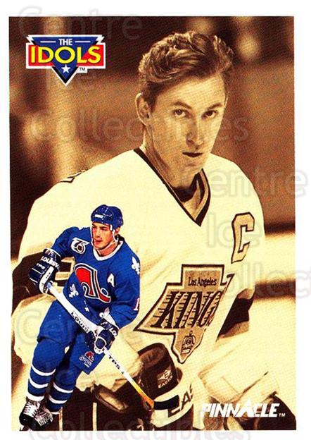 1991-92 Pinnacle #381 Joe Sakic, Wayne Gretzky<br/>6 In Stock - $2.00 each - <a href=https://centericecollectibles.foxycart.com/cart?name=1991-92%20Pinnacle%20%23381%20Joe%20Sakic,%20Wayn...&price=$2.00&code=245675 class=foxycart> Buy it now! </a>
