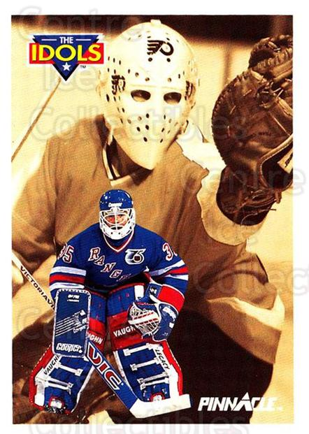 1991-92 Pinnacle #384 Mike Richter, Bernie Parent<br/>5 In Stock - $1.00 each - <a href=https://centericecollectibles.foxycart.com/cart?name=1991-92%20Pinnacle%20%23384%20Mike%20Richter,%20B...&quantity_max=5&price=$1.00&code=245678 class=foxycart> Buy it now! </a>