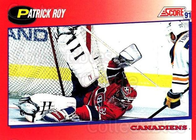 1991-92 Score Canadian Bilingual #75 Patrick Roy<br/>1 In Stock - $1.00 each - <a href=https://centericecollectibles.foxycart.com/cart?name=1991-92%20Score%20Canadian%20Bilingual%20%2375%20Patrick%20Roy...&price=$1.00&code=245789 class=foxycart> Buy it now! </a>