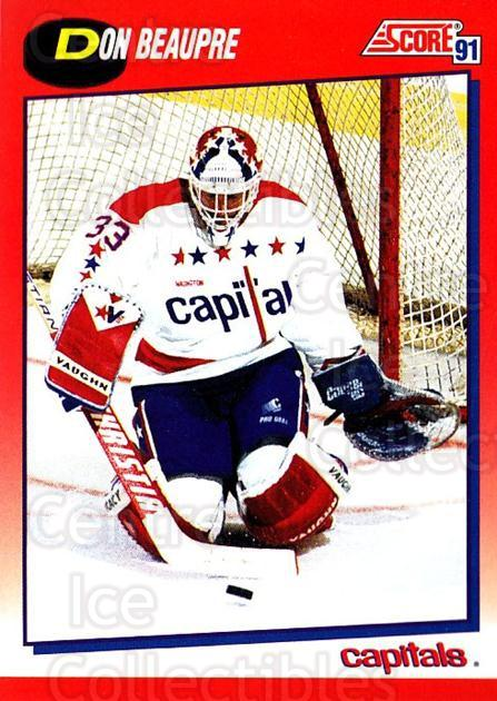 1991-92 Score Canadian Bilingual #185 Don Beaupre<br/>4 In Stock - $1.00 each - <a href=https://centericecollectibles.foxycart.com/cart?name=1991-92%20Score%20Canadian%20Bilingual%20%23185%20Don%20Beaupre...&quantity_max=4&price=$1.00&code=245899 class=foxycart> Buy it now! </a>