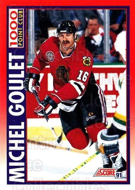 1991-92 Score Canadian Bilingual #265 Michel Goulet<br/>4 In Stock - $1.00 each - <a href=https://centericecollectibles.foxycart.com/cart?name=1991-92%20Score%20Canadian%20Bilingual%20%23265%20Michel%20Goulet...&quantity_max=4&price=$1.00&code=245979 class=foxycart> Buy it now! </a>