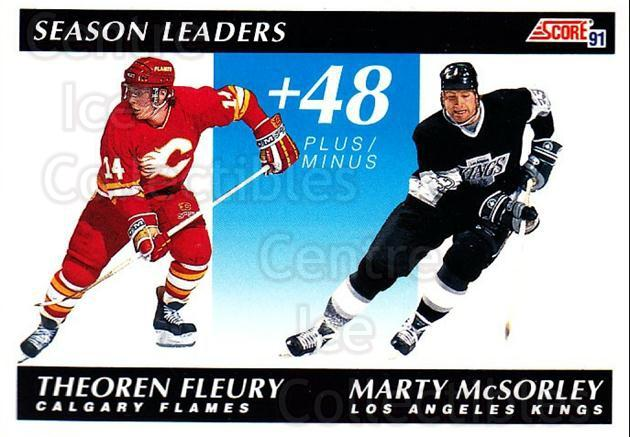 1991-92 Score Canadian Bilingual #297 Theo Fleury, Marty McSorley<br/>4 In Stock - $1.00 each - <a href=https://centericecollectibles.foxycart.com/cart?name=1991-92%20Score%20Canadian%20Bilingual%20%23297%20Theo%20Fleury,%20Ma...&quantity_max=4&price=$1.00&code=246011 class=foxycart> Buy it now! </a>