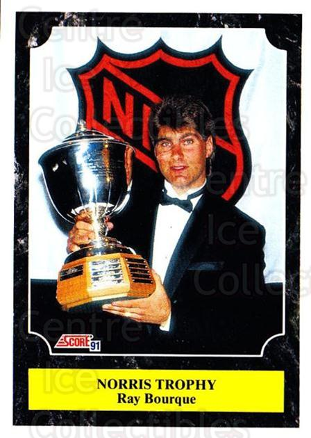 1991-92 Score Canadian Bilingual #319 Ray Bourque, Norris Trophy<br/>4 In Stock - $1.00 each - <a href=https://centericecollectibles.foxycart.com/cart?name=1991-92%20Score%20Canadian%20Bilingual%20%23319%20Ray%20Bourque,%20No...&quantity_max=4&price=$1.00&code=246033 class=foxycart> Buy it now! </a>