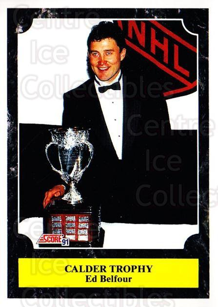 1991-92 Score Canadian Bilingual #320 Ed Belfour, Calder Trophy<br/>3 In Stock - $1.00 each - <a href=https://centericecollectibles.foxycart.com/cart?name=1991-92%20Score%20Canadian%20Bilingual%20%23320%20Ed%20Belfour,%20Cal...&price=$1.00&code=246034 class=foxycart> Buy it now! </a>