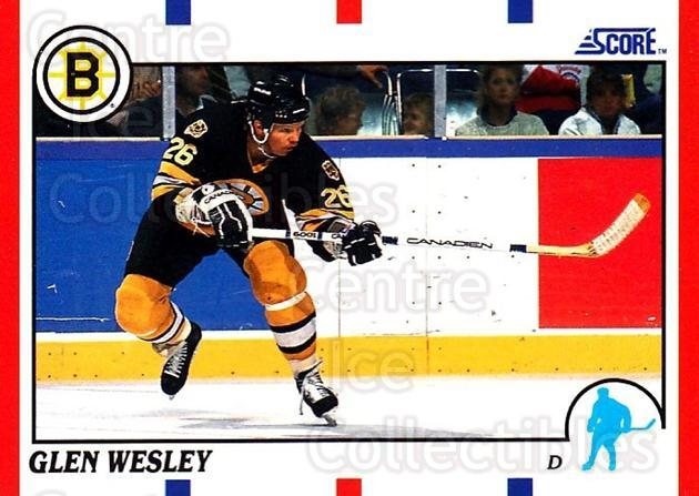 1990-91 Score USA #97 Glen Wesley<br/>7 In Stock - $1.00 each - <a href=https://centericecollectibles.foxycart.com/cart?name=1990-91%20Score%20USA%20%2397%20Glen%20Wesley...&quantity_max=7&price=$1.00&code=246471 class=foxycart> Buy it now! </a>