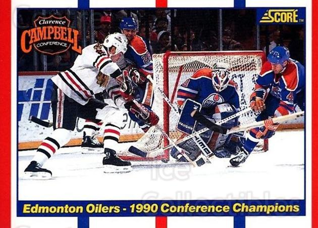 1990-91 Score USA #369 Edmonton Oilers, Chicago Blackhawks<br/>6 In Stock - $1.00 each - <a href=https://centericecollectibles.foxycart.com/cart?name=1990-91%20Score%20USA%20%23369%20Edmonton%20Oilers...&quantity_max=6&price=$1.00&code=246743 class=foxycart> Buy it now! </a>