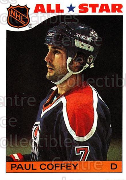 1985-86 Topps Stickers Insert #4 Paul Coffey<br/>5 In Stock - $2.00 each - <a href=https://centericecollectibles.foxycart.com/cart?name=1985-86%20Topps%20Stickers%20Insert%20%234%20Paul%20Coffey...&price=$2.00&code=24678 class=foxycart> Buy it now! </a>