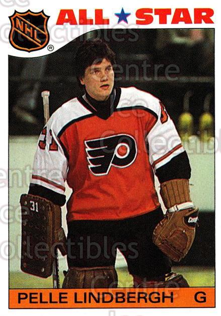 1985-86 Topps Stickers Insert #6 Pelle Lindbergh<br/>5 In Stock - $5.00 each - <a href=https://centericecollectibles.foxycart.com/cart?name=1985-86%20Topps%20Stickers%20Insert%20%236%20Pelle%20Lindbergh...&price=$5.00&code=24680 class=foxycart> Buy it now! </a>