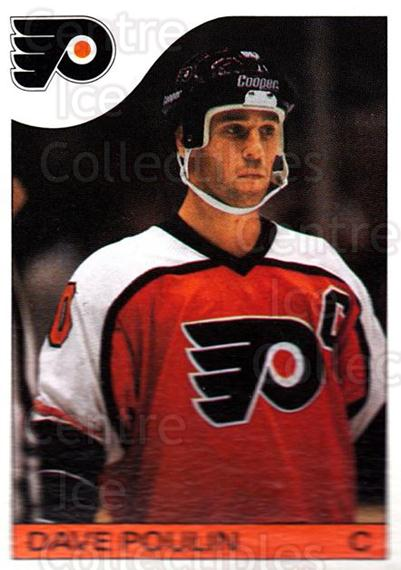 1985-86 Topps #128 Dave Poulin<br/>2 In Stock - $1.00 each - <a href=https://centericecollectibles.foxycart.com/cart?name=1985-86%20Topps%20%23128%20Dave%20Poulin...&quantity_max=2&price=$1.00&code=24710 class=foxycart> Buy it now! </a>