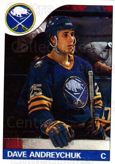 1985-86 Topps #143 Dave Andreychuk<br/>4 In Stock - $1.00 each - <a href=https://centericecollectibles.foxycart.com/cart?name=1985-86%20Topps%20%23143%20Dave%20Andreychuk...&quantity_max=4&price=$1.00&code=24726 class=foxycart> Buy it now! </a>