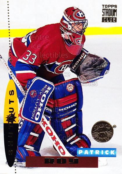 1994-95 Stadium Club Super Team Winner Redeemed #178 Patrick Roy<br/>2 In Stock - $10.00 each - <a href=https://centericecollectibles.foxycart.com/cart?name=1994-95%20Stadium%20Club%20Super%20Team%20Winner%20Redeemed%20%23178%20Patrick%20Roy...&price=$10.00&code=247309 class=foxycart> Buy it now! </a>
